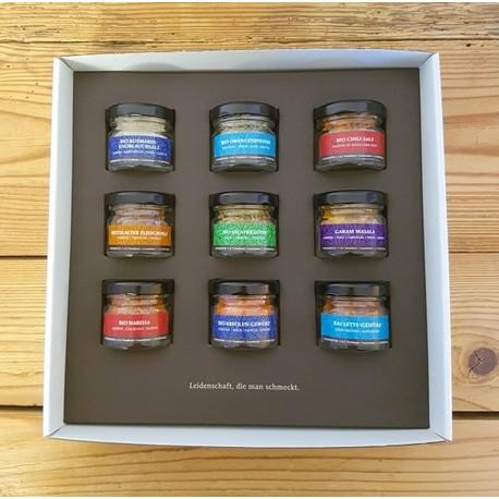 """Mini coffret cadeau - 9 mélanges """" Les meilleurs épices """""""