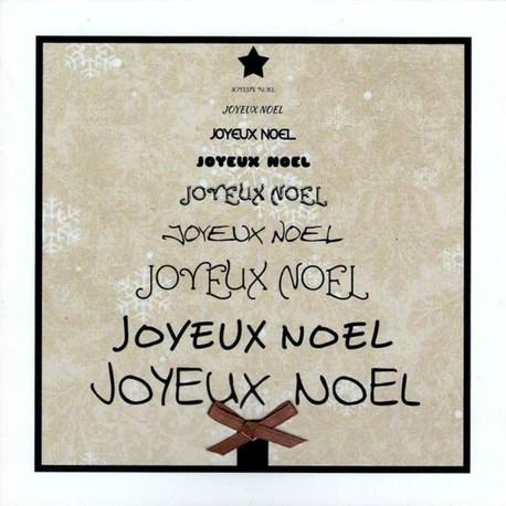 Karten «Joyeux Noël» (4er-Set)