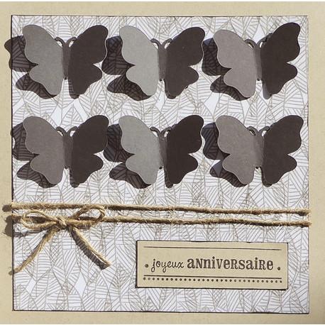 Cartes «Anniversaire Papillons»