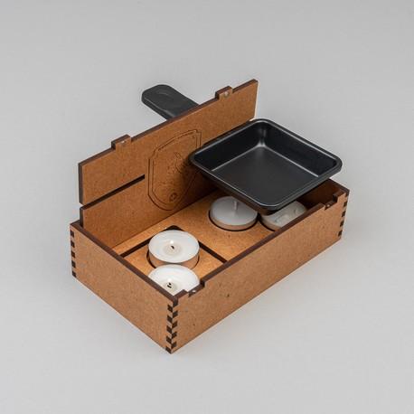 Origineller Raclette-Ofen für unterwegs