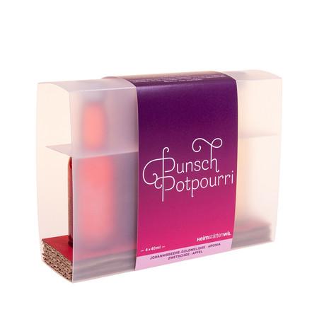 """Coffret cadeau bio """"Punsch-Potpourri"""", 4 x 40 ml"""