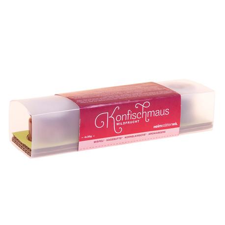 Coffret cadeau de confitures de fruits sauvages bio «Konfi-Schmaus» 4 x 35 g