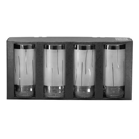 4 Trinkgläser «TULPENSTIELE» im Set