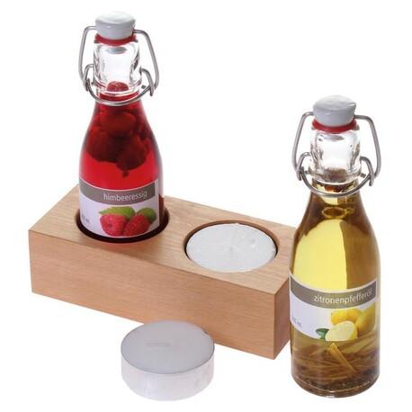 Himbeeressig und Zitronenpfefferöl